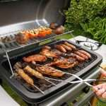 outdoor grill with meat