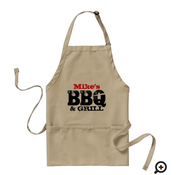 perspnalized BBQ apron