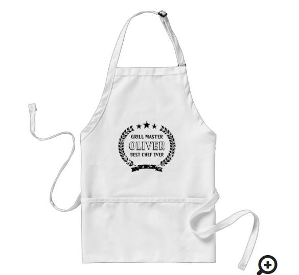personalized grill mastere apron