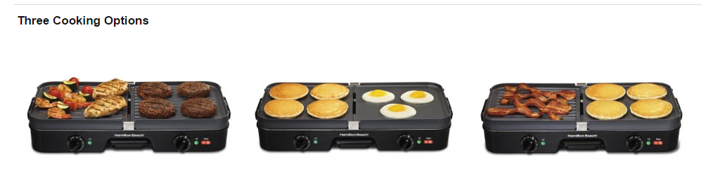 grill griddle or combo Hamilton Beach 38564 indoor grill