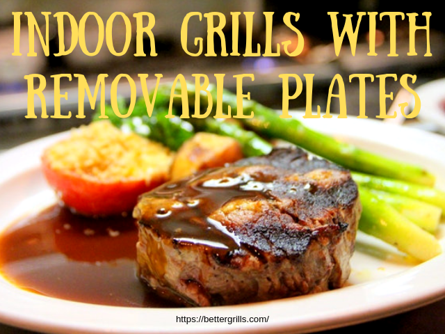 indoor grill with removable plates