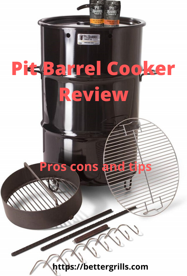 pit barrel cooker with all accessories