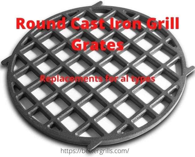 round cast iron grill grates