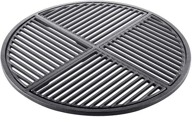 pre-seasoned 22.5 inch cast iron grill grate