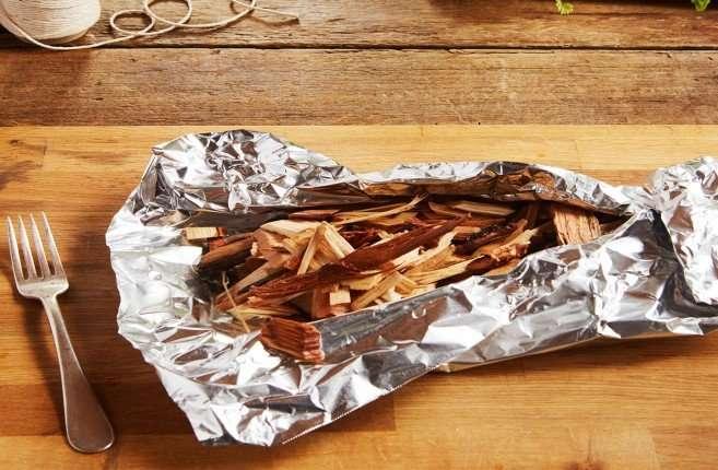wood chip aluminum pouch