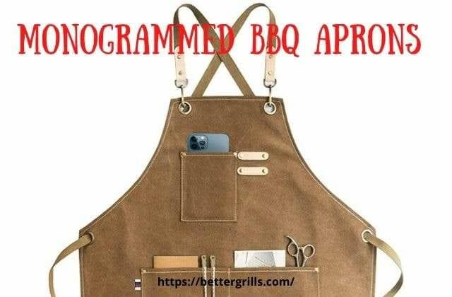 monogrammed bbq apron