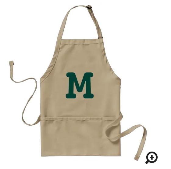 custom made bbq apron with monogram
